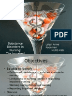 substance disorders in nursing