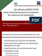 Curso de ASPEN HYSYS v 7.0 - Columna de Destilación