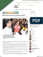 14-04-15 Demanda Maloro Acosta alto a los atentados a candidatos