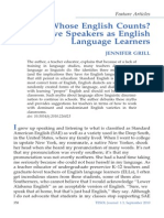 Whose English Counts_ Native Speakers as English Language Learners - GRILL - 2012 - TESOL Journal - Wiley Online Library