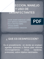 Desinfeccion, Manejo y Uso de Desinfectantes