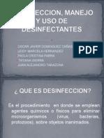 Desinfeccion, Manejo y Uso de Desinfectantes