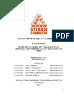 Contoh Proposal PKM-T Yang Sudah Disetujui.