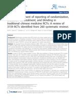 Quality of TCM RCTs