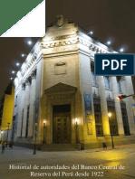 Historial de Autoridades Del Banco Central de Reserva Del Perú