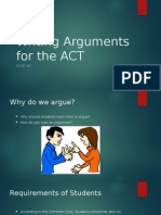 Writing Arguments for the ACT Presentation