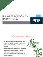 La Observación en Psicología