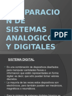 Comparacion de Sistemas Analogicos y Digitales