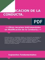 MODIFICACION DE LA CONDUCTA