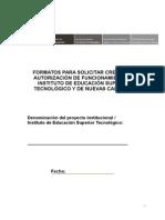 Formatos Creación-Autorización IEST