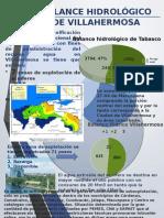 Cartel Balance hidrológico de Villahermosa
