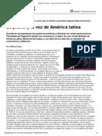 La Pluma y La Voz de América Latina