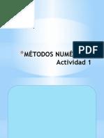 Métodos Numéricos Actividad 1