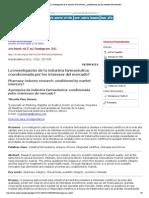 Acta bioethica - La investigación de la industria farmacéutica_ ¿condicionada por los intereses del mercado_