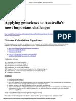 Distance Calculation Algorithms - Geoscience Australia