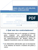 Exposición Controladores on-Off, p,Pi,Pd,Pid