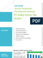 Forward Integration - Kalbe Farma