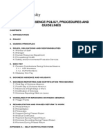 SICKNESS ABSENCE POLICY P~ GUIDELINES - FINAL2