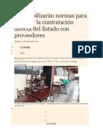 Se Flexibilizarán Normas Para Permitir La Contratación Directa Del Estado Con Proveedores