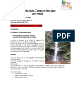 Programa de Tours Tarapoto Per1