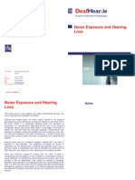 Noise Exposure and Hearing Loss