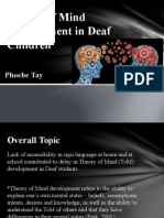 theory of mind development in deaf children powerpoint