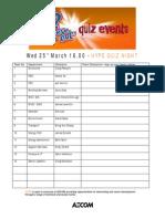 Quiz Teams