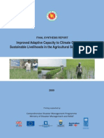 Report-Improving Adaptive Capacity to Climate Variability and Change for Sustainable Food and Livelihood Security in Drought Prone and Coastal Regions - 2009