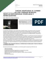 Nuevas Tecnologias Adaptadas Al Cambio Climatico Para Los Caminos Rurales Mezclas Bituminosas Templadas y Semicalientes