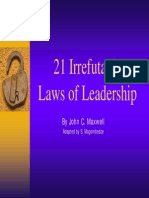 21 Laws of Leadership john maxwell