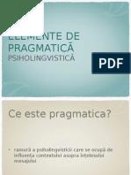 Curs Pragmatica
