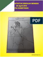 Bahan Kreativitas Sekolah Minggu 26 April 2015 PIA Kumetiran