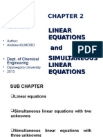 Simultaneous Linear Equation