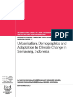 Urbanization, Demographic and Adaptaion to Climate Change in Semarang