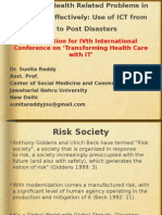Managing Health Related Problems in Disasters Effectively