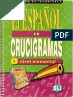 Crucigramas variados para lectoescritura y comprensión lectora