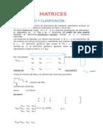 Definicion y Clasificacion de Matrices