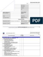 Quality Audit Checklist on Fabricator