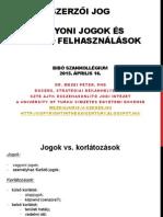 Szerzői jog - Vagyoni jogok és szabad felhasználások
