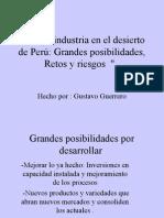 Agroindustria en El Desierto Agroindustria en el desierto de Peru