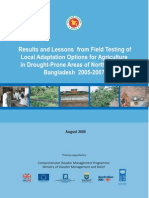 Study Report - Results and Lessons of Local Adaptation Option in Drought Prone Area in NW Bangladesh