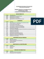 Horario Clases Examenes Primer Periodo 2014 Version Web 17022014