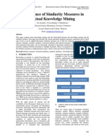 Significance of Similarity Measures in Textual Knowledge Mining