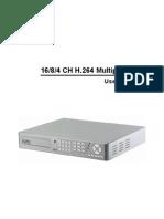 16/8/4 CH H.264 Multiplex DVR