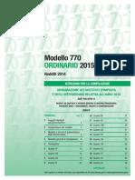 Istruzioni 770 2015