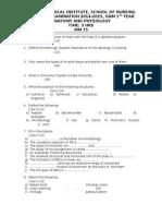 gnm question paper