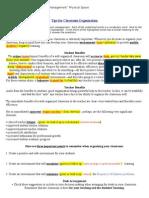 tips for classroom organization