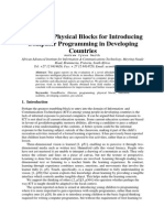 Intelligent Physical Blocks for Introducing  Computer Programming in Developing  Countries