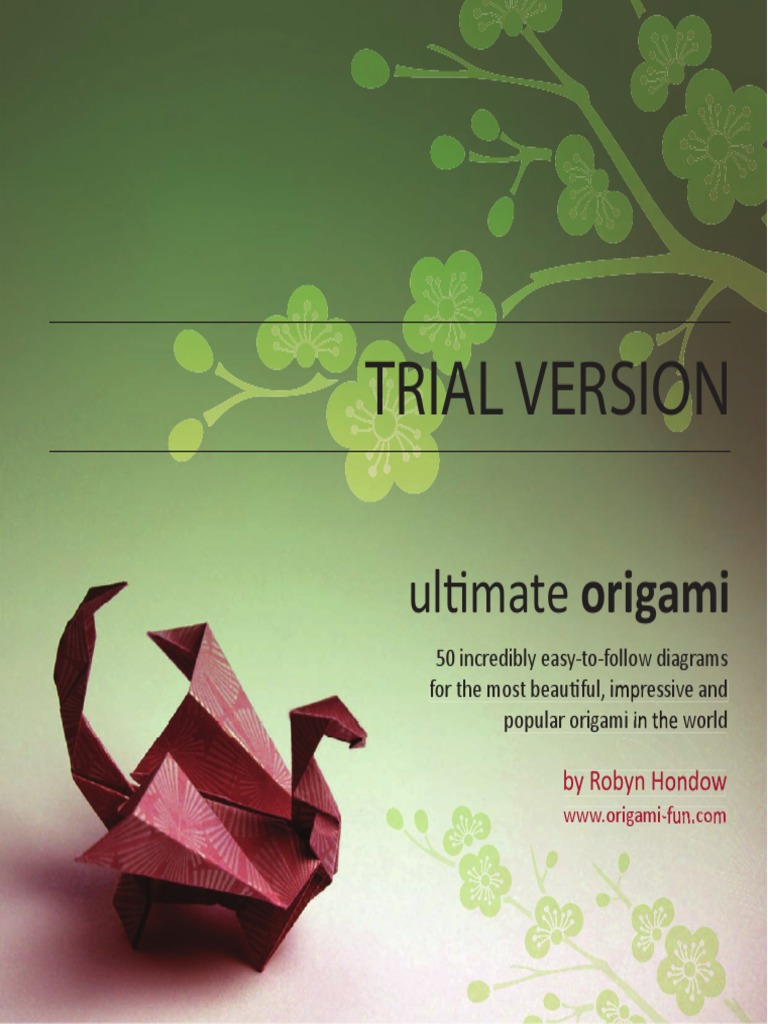 Ultimate origami trial paper folding origami jeuxipadfo Image collections