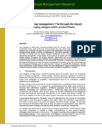 Design divergence - the impact of through-life design change on product fleets - SDM 2015 Conference Paper